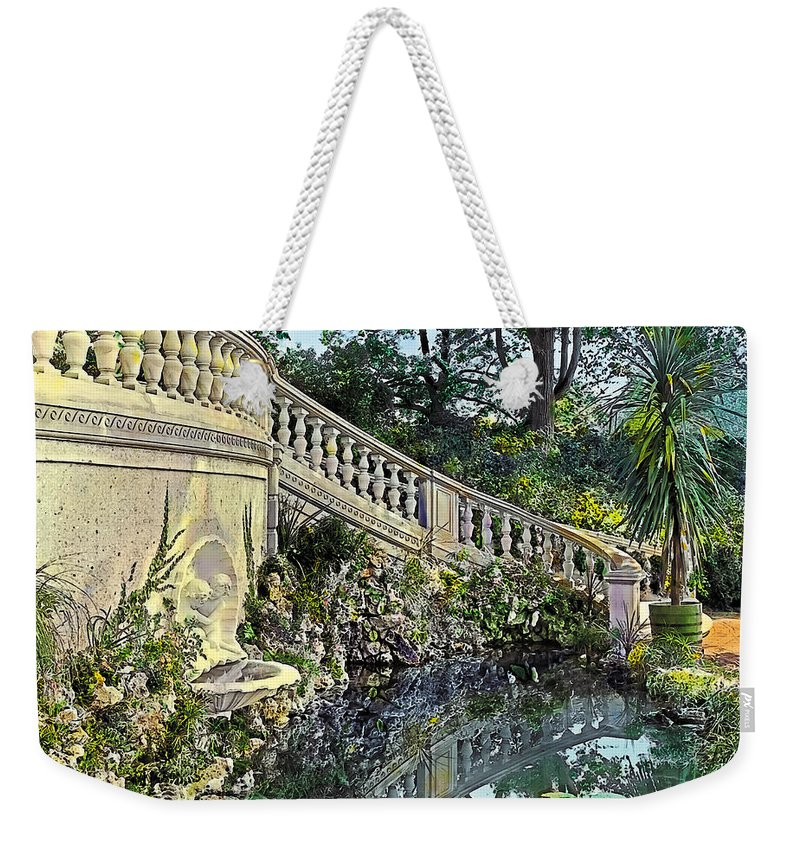 Tranquil Weekender Tote Bag featuring the painting Winding Staircase by Terry Reynoldson