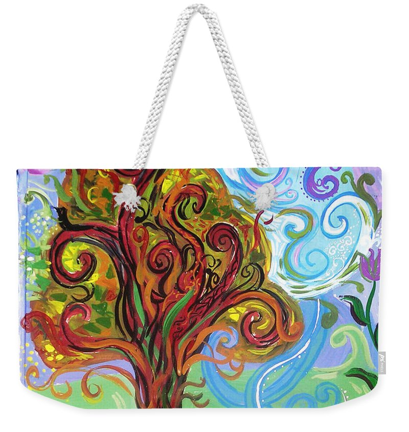 Tree Weekender Tote Bag featuring the painting Winding Tree by Genevieve Esson