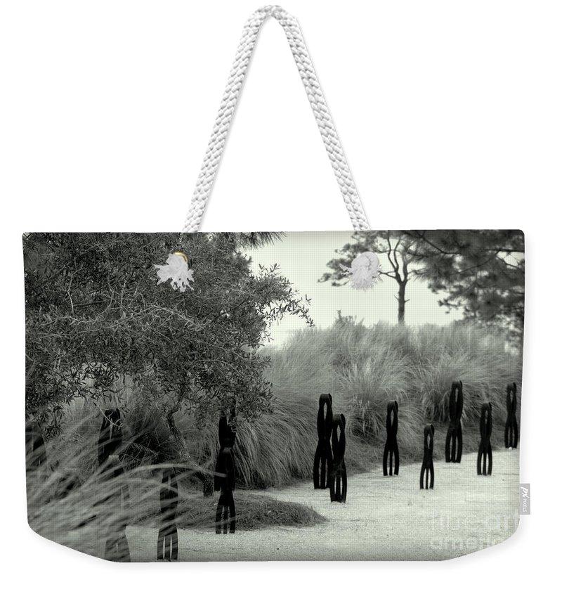 Windmark Weekender Tote Bag featuring the photograph Windmark Beach by Debra Forand