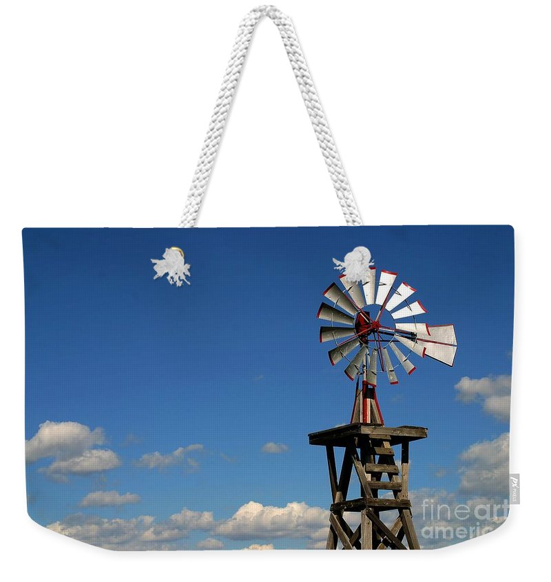 Windmill Photographs Weekender Tote Bag featuring the photograph Windmill-5749b by Gary Gingrich Galleries
