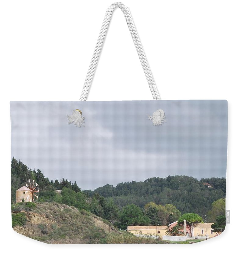 Windmill Weekender Tote Bag featuring the photograph Windmill Built 1830 by George Katechis
