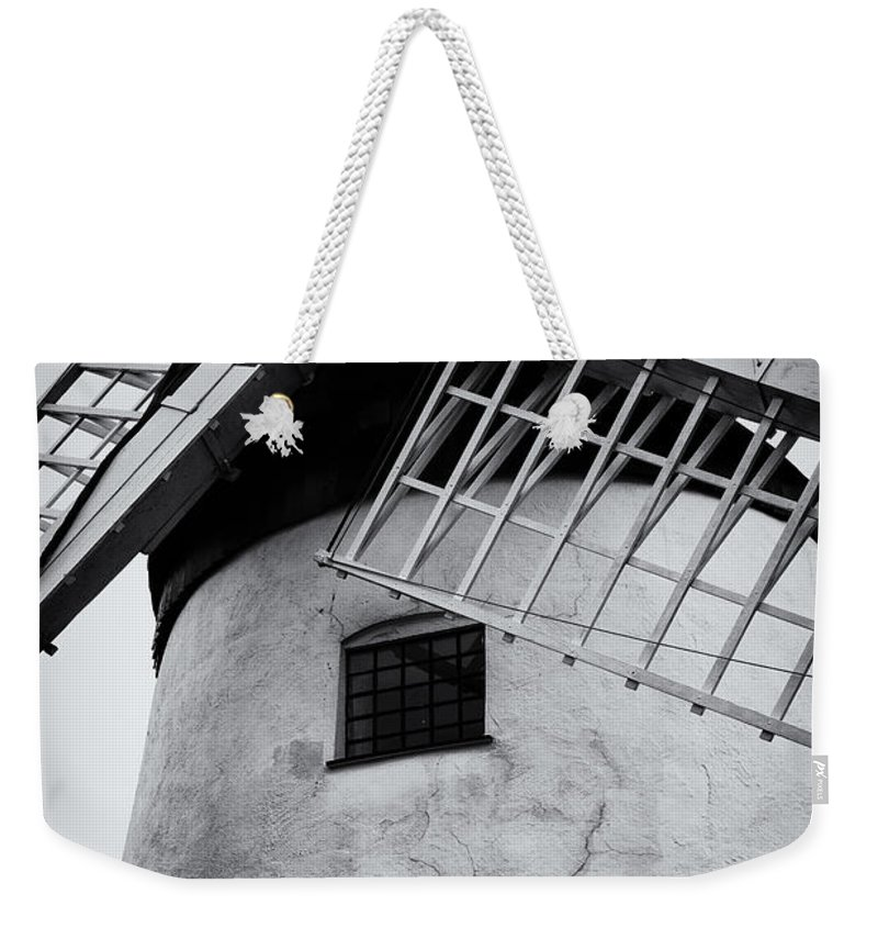 Wales Weekender Tote Bag featuring the photograph Windmill by Fran Gallogly