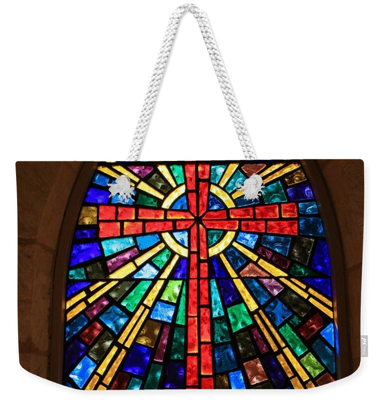 Window Weekender Tote Bag featuring the photograph Window At The Little Church In La Villita by Carol Groenen