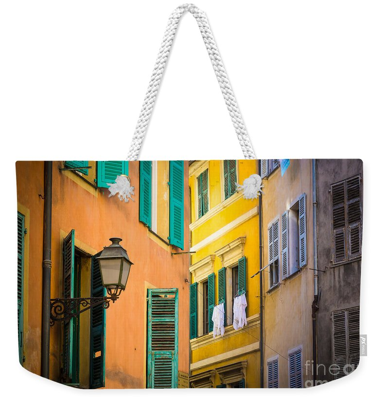 Cote D'azur Weekender Tote Bag featuring the photograph Window Cornucopia by Inge Johnsson