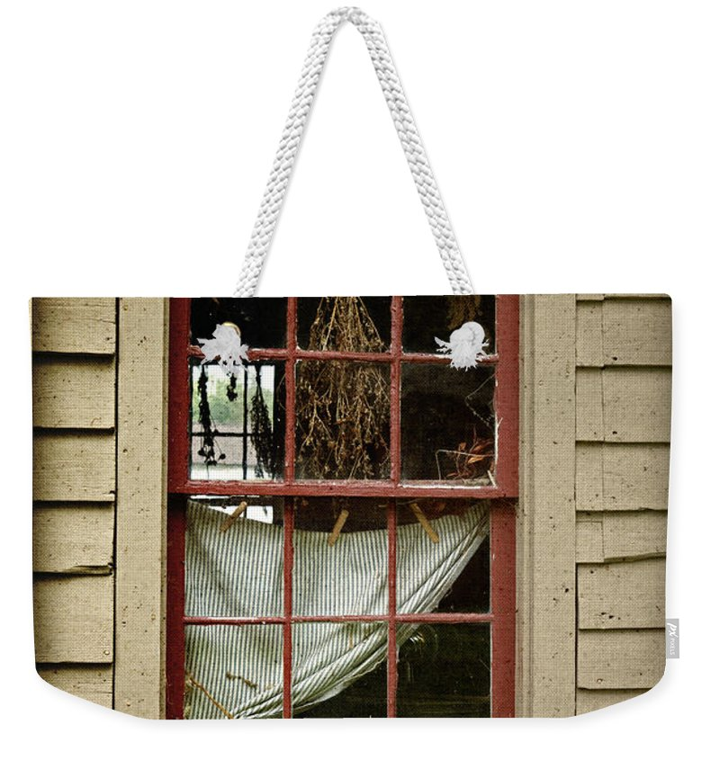 Window Weekender Tote Bag featuring the photograph Window - Glimpse Into The Past by John Stephens