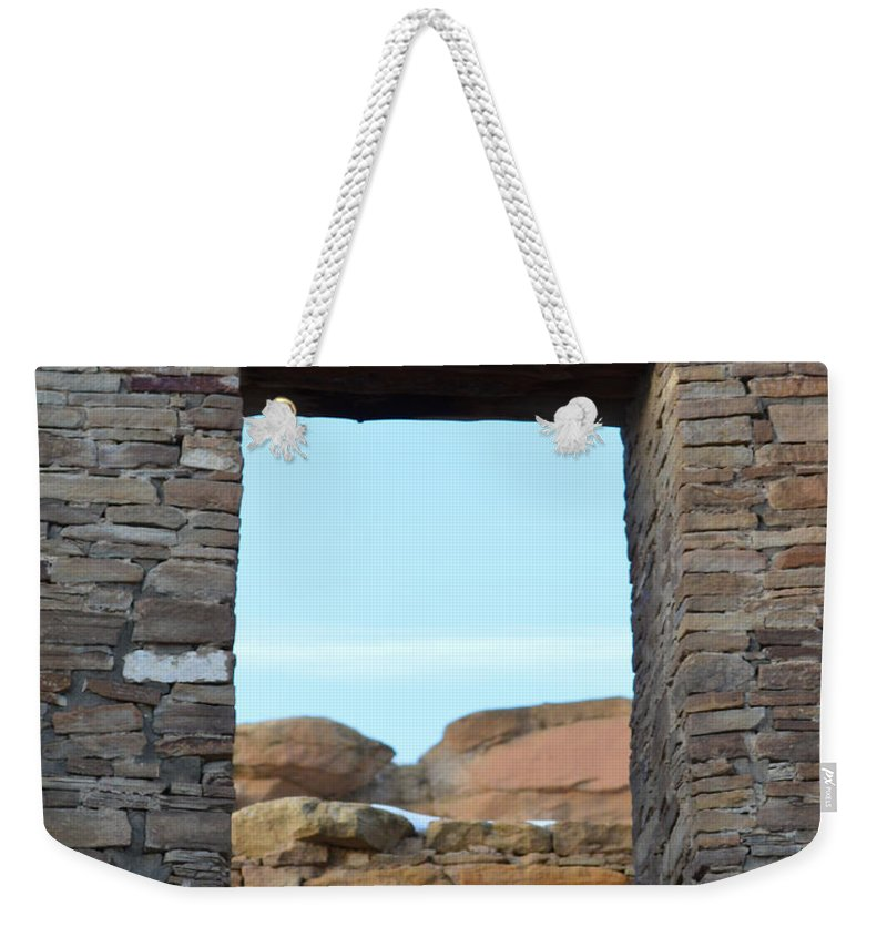Window Weekender Tote Bag featuring the photograph Window In Time by Meandering Photography