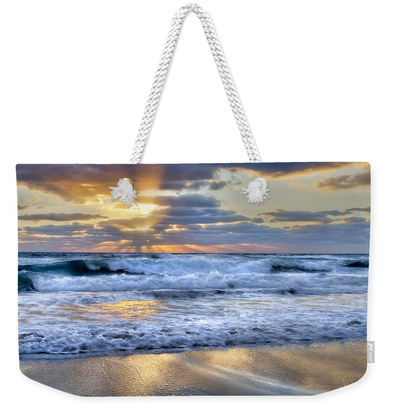 Clouds Weekender Tote Bag featuring the photograph Window To Heaven by Debra and Dave Vanderlaan