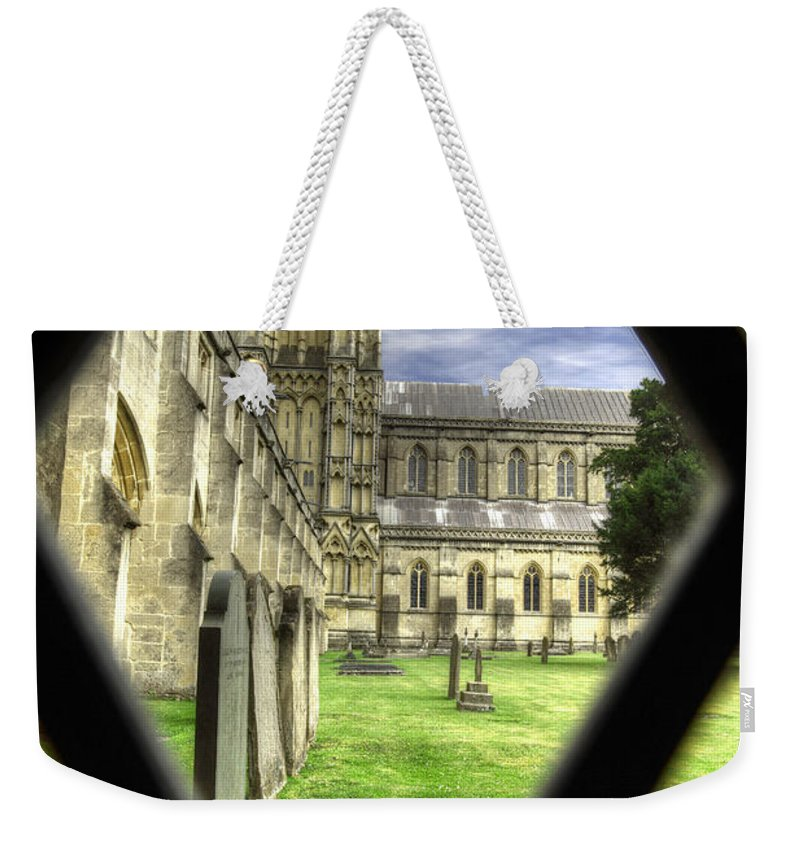 Cathedral Weekender Tote Bag featuring the photograph Window To The Past by Traci Law