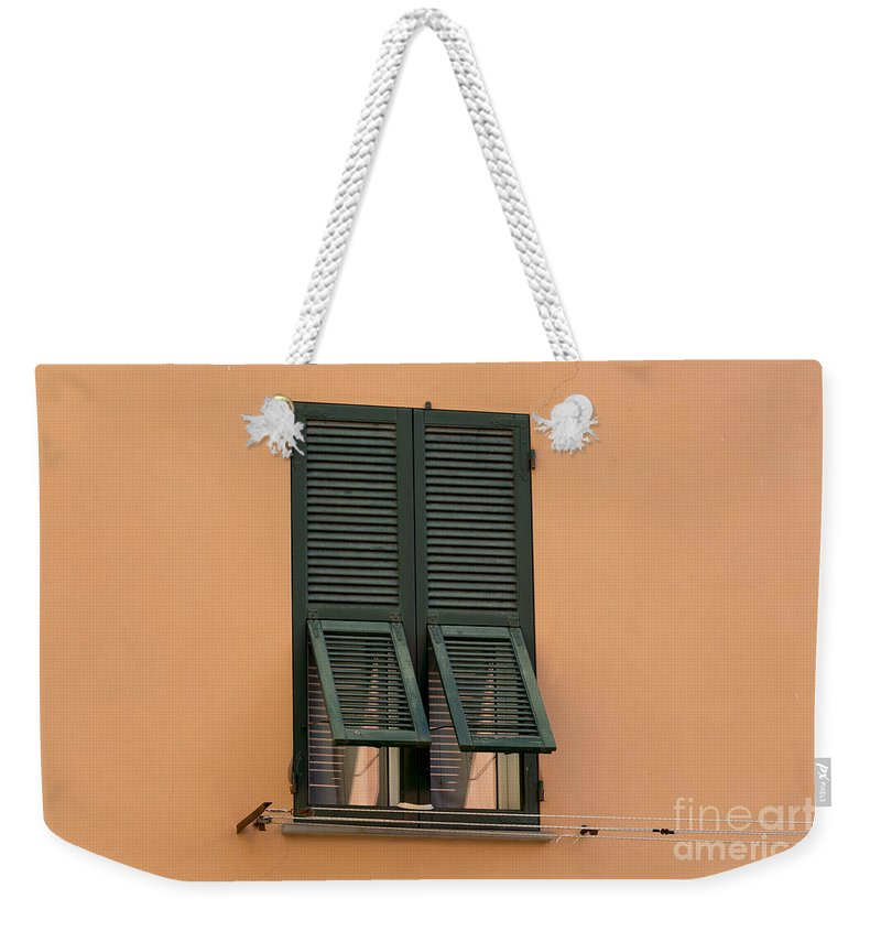 Window Weekender Tote Bag featuring the photograph Window With Shutter by Mats Silvan