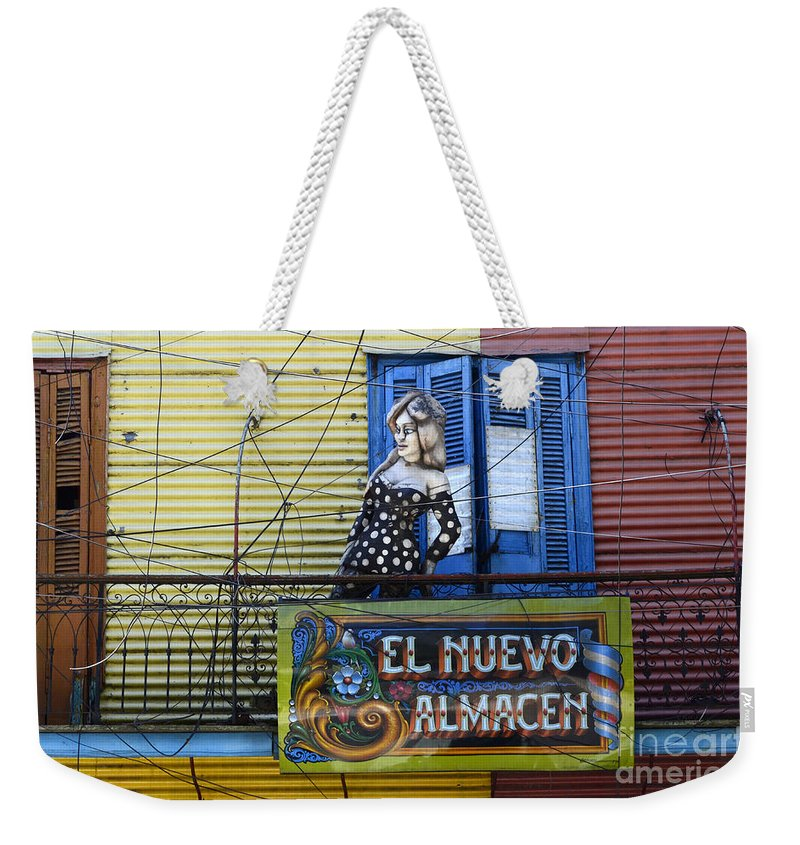 Door Weekender Tote Bag featuring the photograph Windows And Doors Buenos Aires 17 by Bob Christopher