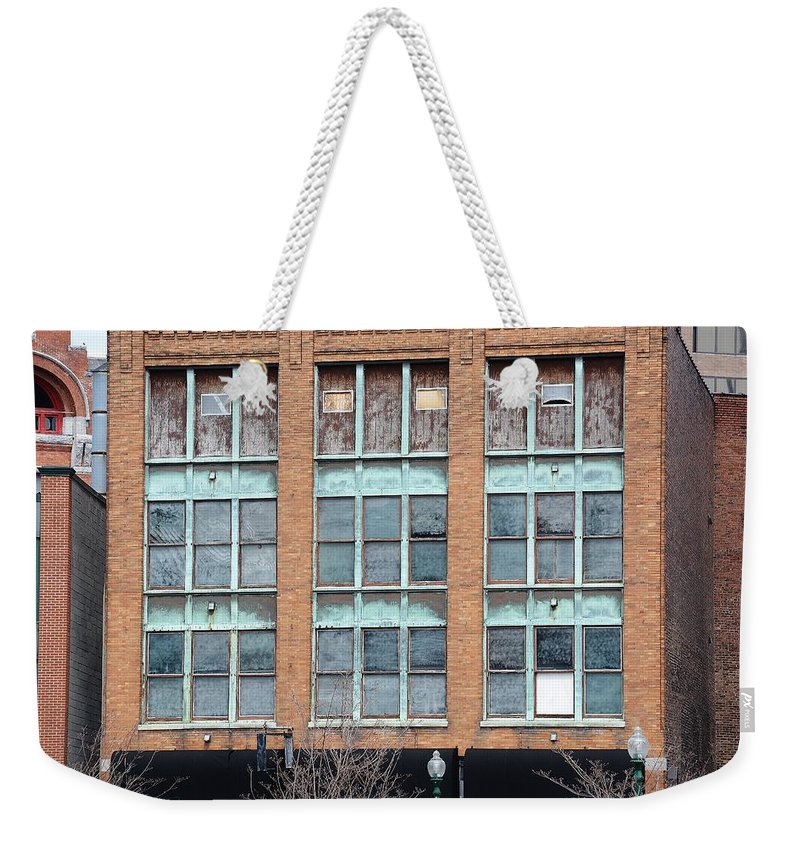 Building Weekender Tote Bag featuring the photograph Windows by Lisa Kane