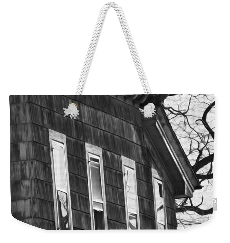 Old House Weekender Tote Bag featuring the photograph Windows Of The Past by Tracy Winter