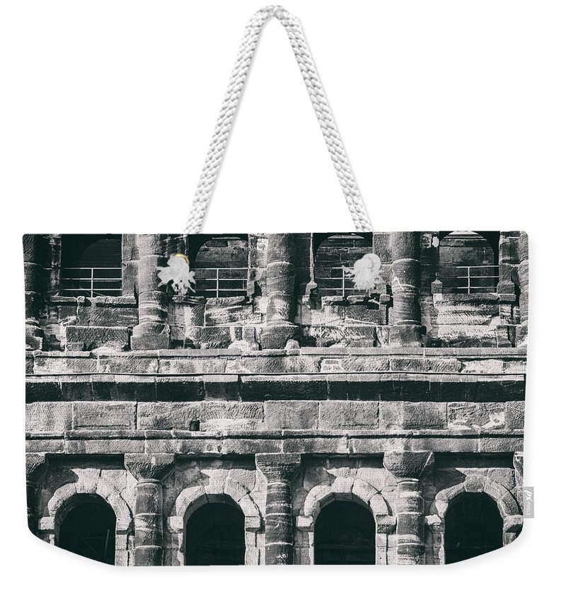 Ancient Weekender Tote Bag featuring the photograph Windows Of The Porta Nigra by TouTouke A Y