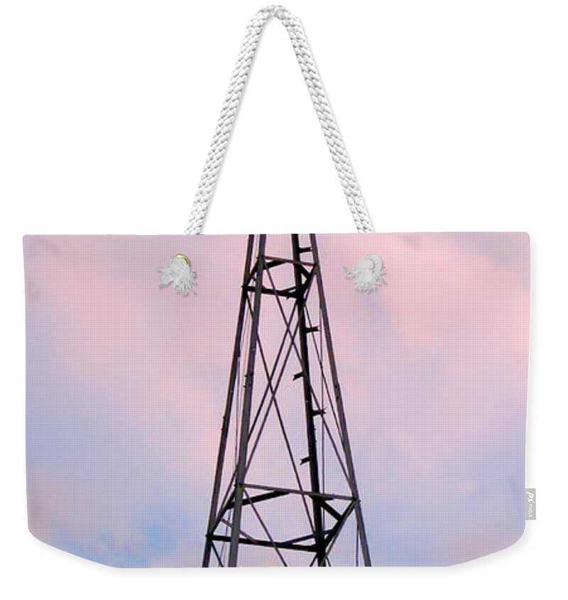 2d Weekender Tote Bag featuring the photograph Windpump by Brian Wallace