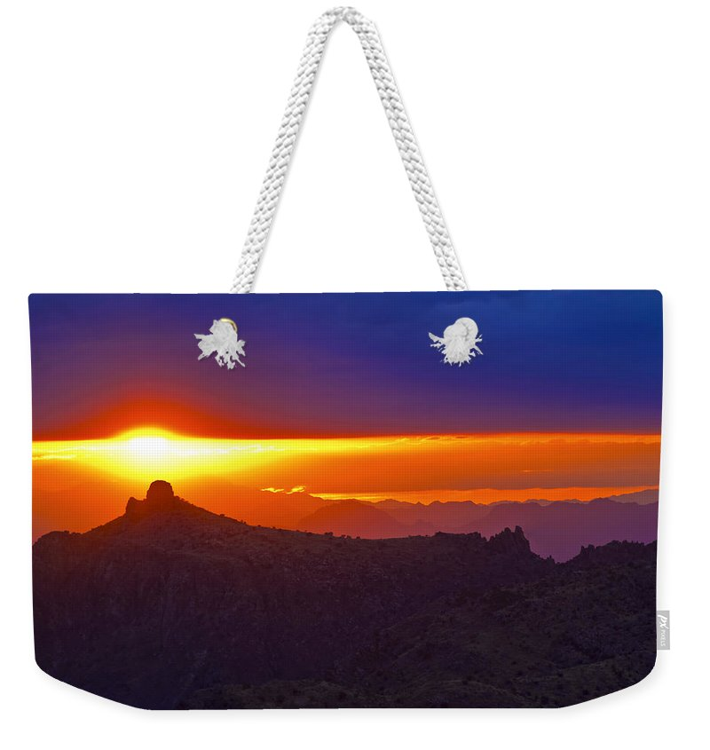 Sunset Weekender Tote Bag featuring the photograph Windsong by Patrick Moore