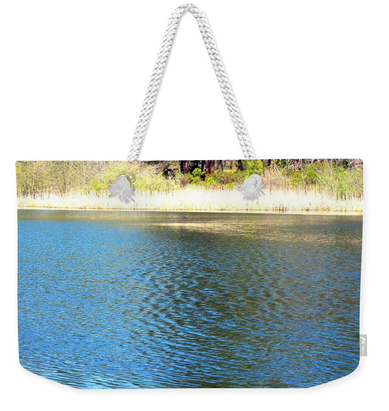 Grace-lake Weekender Tote Bag featuring the photograph Windy Grace Lake by Joyce Dickens