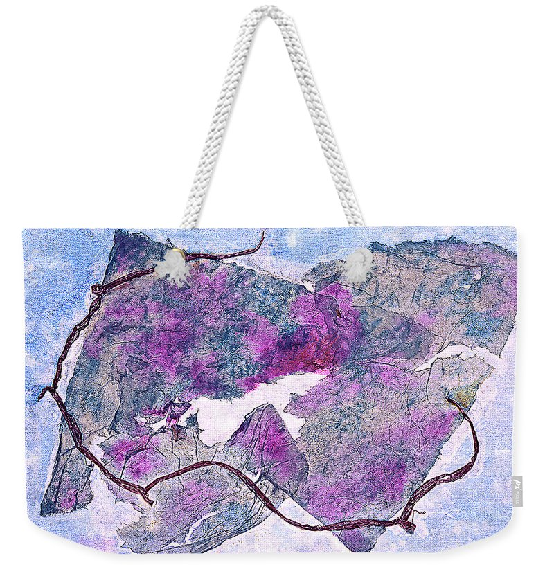 Mixed Media Painting Weekender Tote Bag featuring the painting Wine Country In Northern California by Asha Carolyn Young