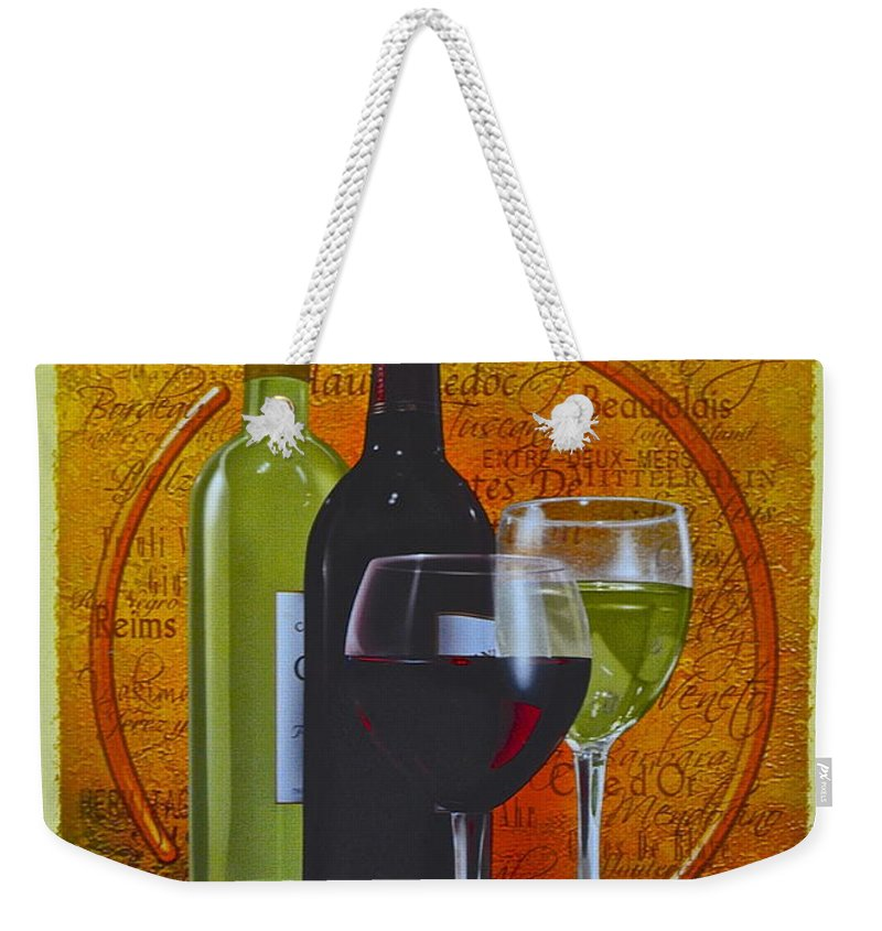 Wine Weekender Tote Bag featuring the photograph Wine Country by Frozen in Time Fine Art Photography