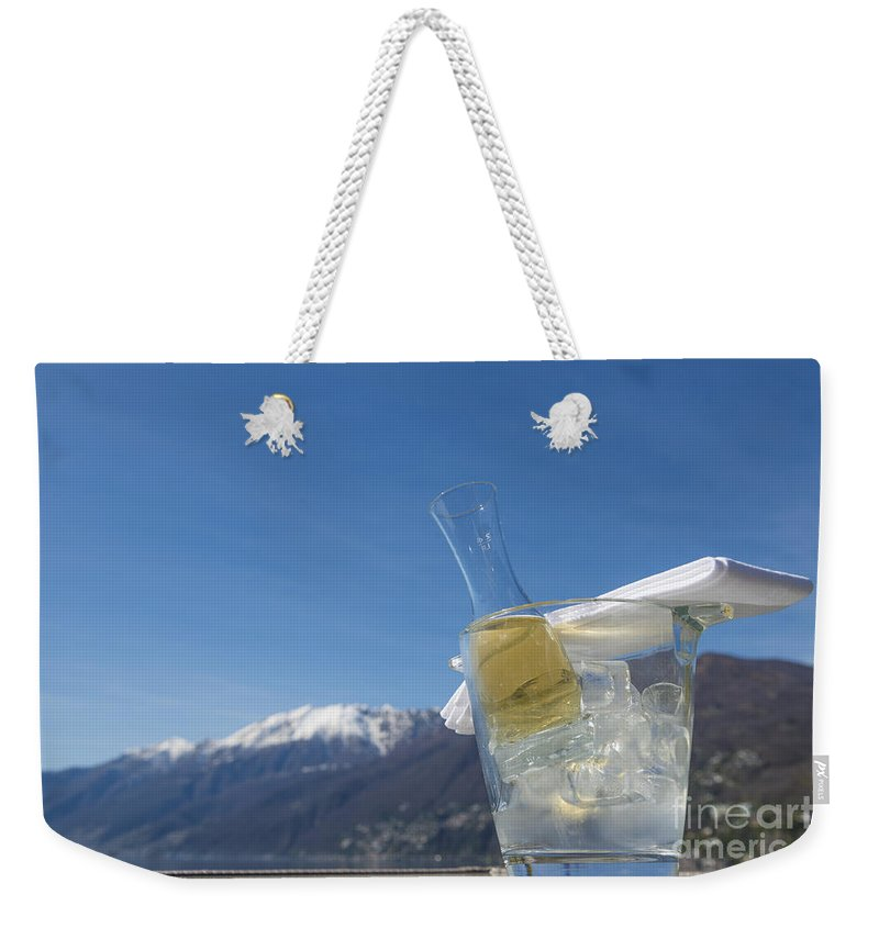 Wine Weekender Tote Bag featuring the photograph Wine Cube by Mats Silvan