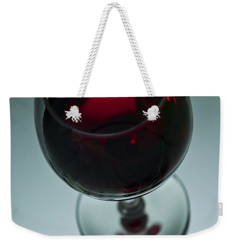 Waiting Weekender Tote Bag featuring the photograph Wine Glass 2 by Glenn Gordon