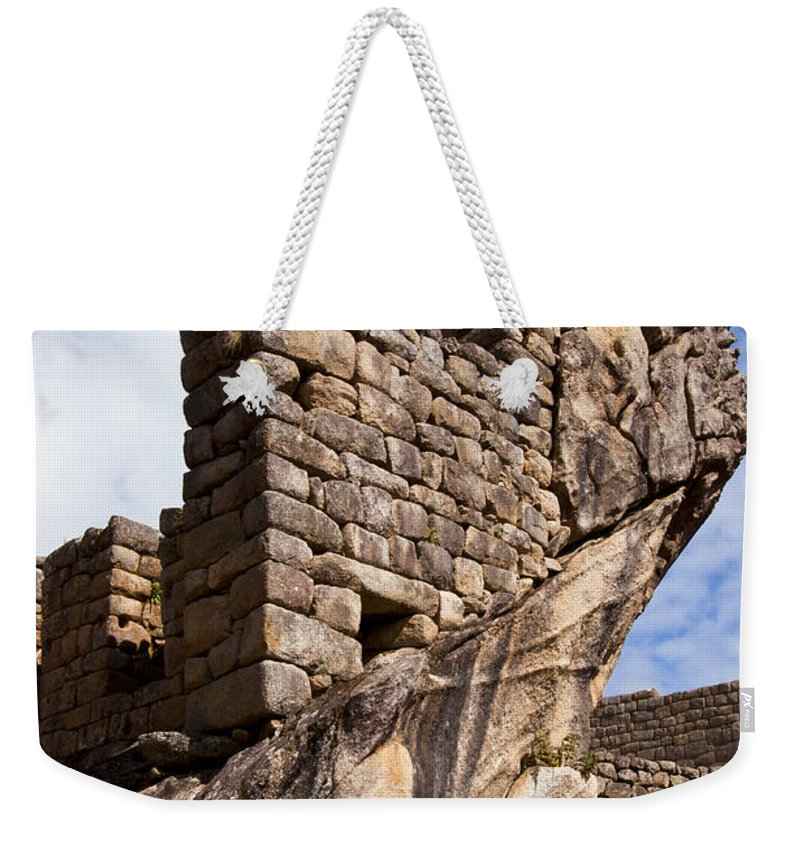 Inca Trail Weekender Tote Bag featuring the photograph Wing Of The Condor One by Bob Phillips