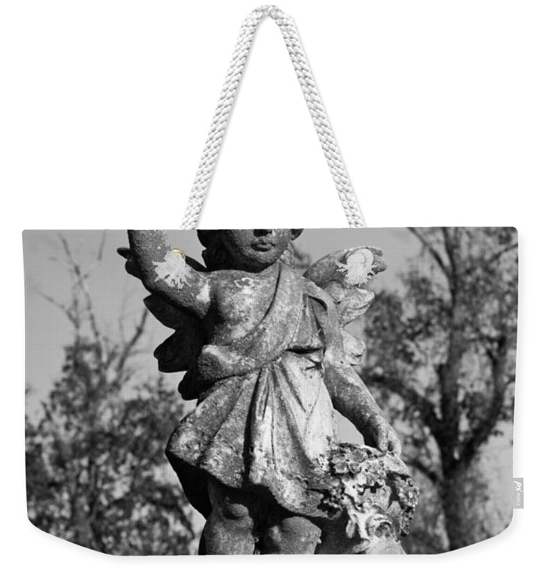 Winged Weekender Tote Bag featuring the photograph Winged Girl 4 by Douglas Barnett