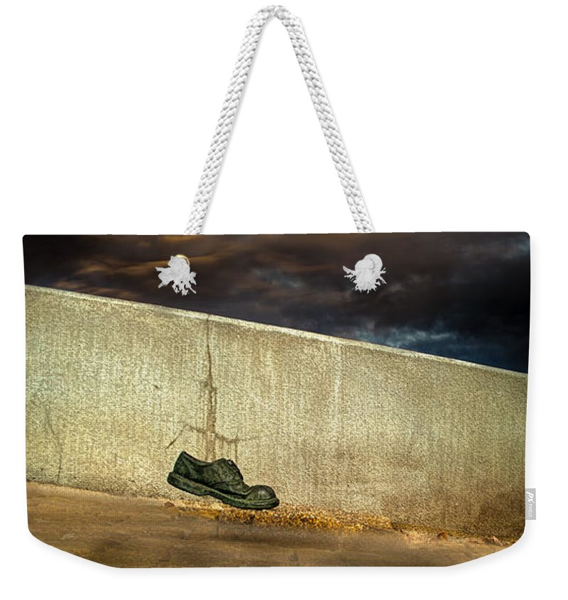 Shoe Weekender Tote Bag featuring the photograph Wingtips by Bob Orsillo