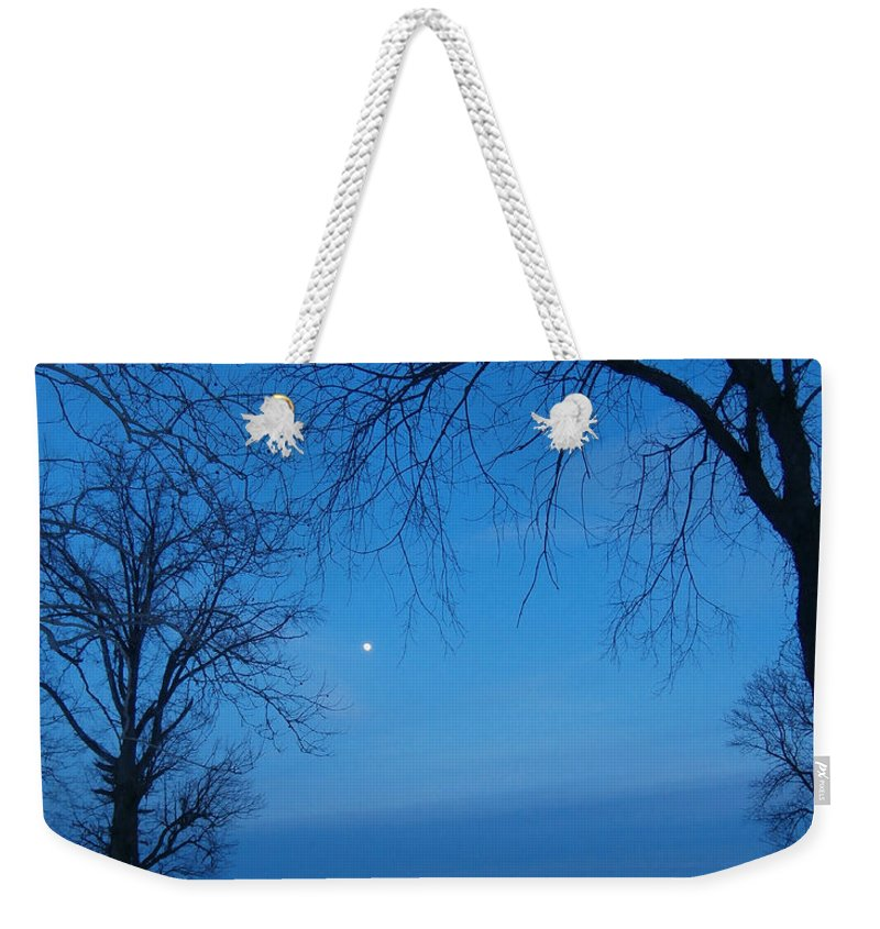 Indiana Weekender Tote Bag featuring the photograph Winter Blues by Dan McCafferty