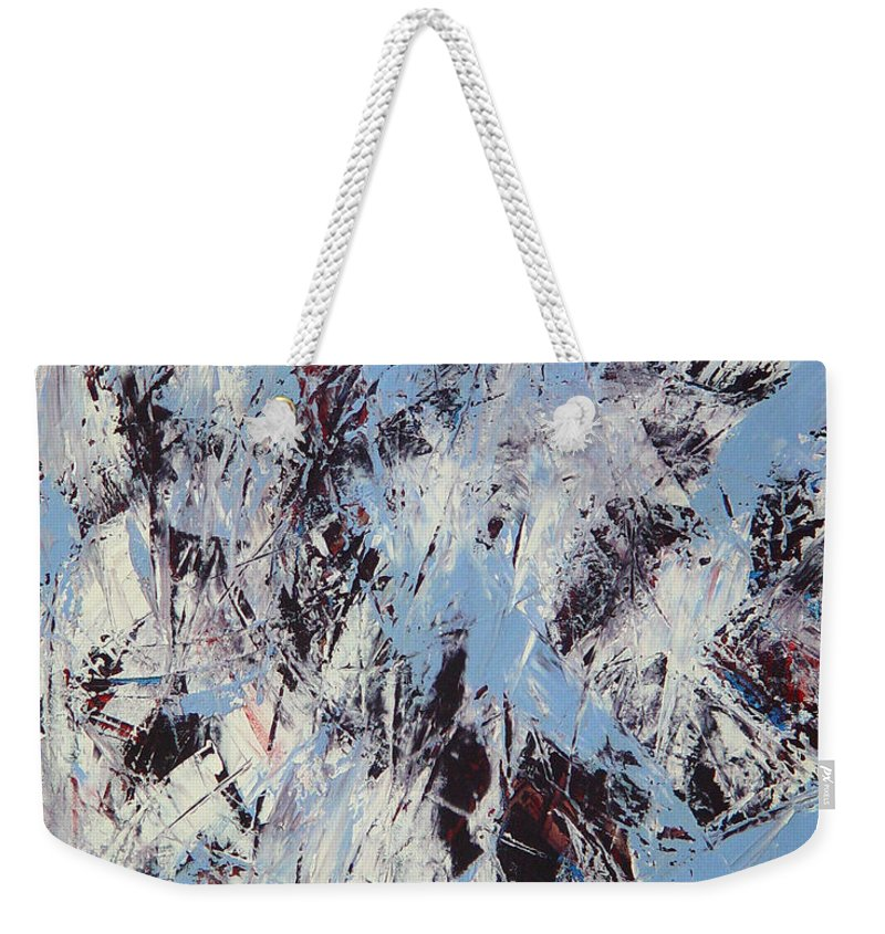 Abstract Weekender Tote Bag featuring the painting Winter by Dean Triolo