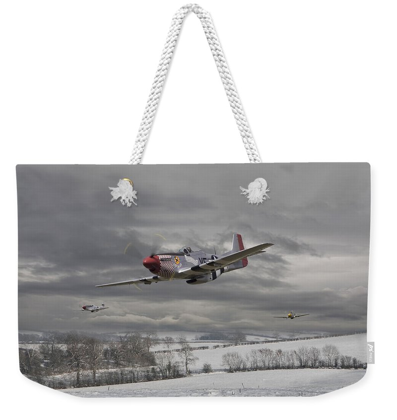 Aircraft Weekender Tote Bag featuring the digital art Winter Freedom by Pat Speirs