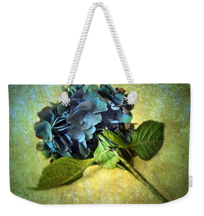Flower Weekender Tote Bag featuring the photograph Winter Hydrangea by Jessica Jenney