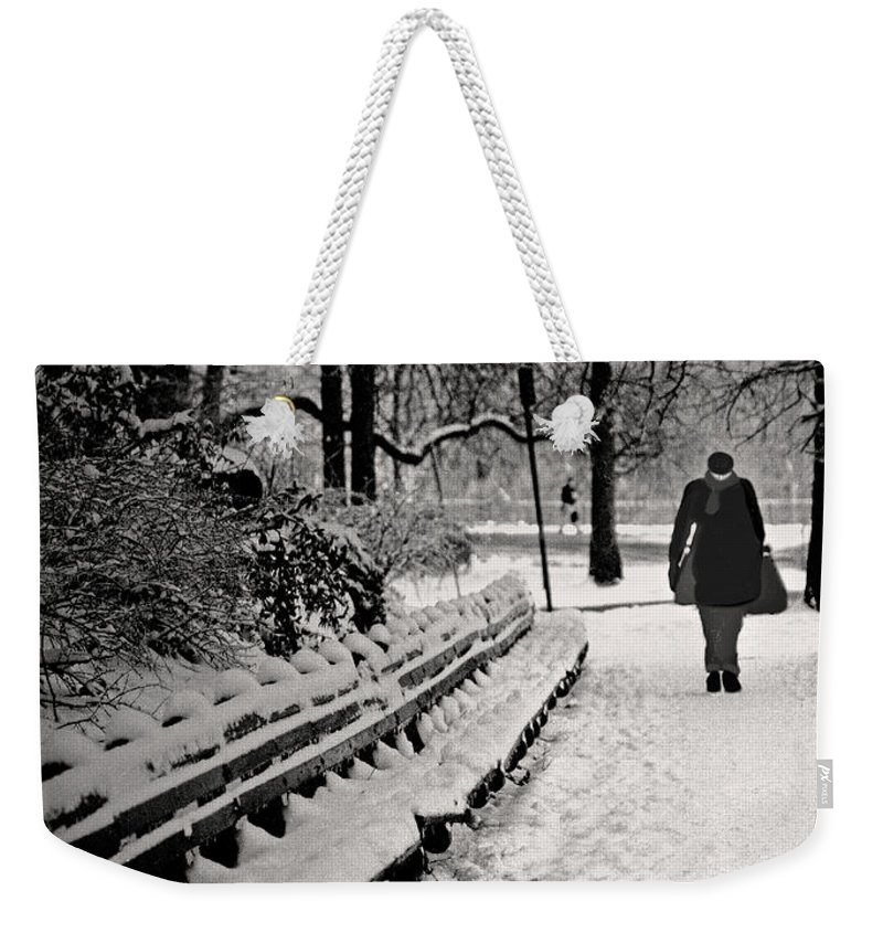 Winter Weekender Tote Bag featuring the photograph Winter In Central Park by Madeline Ellis