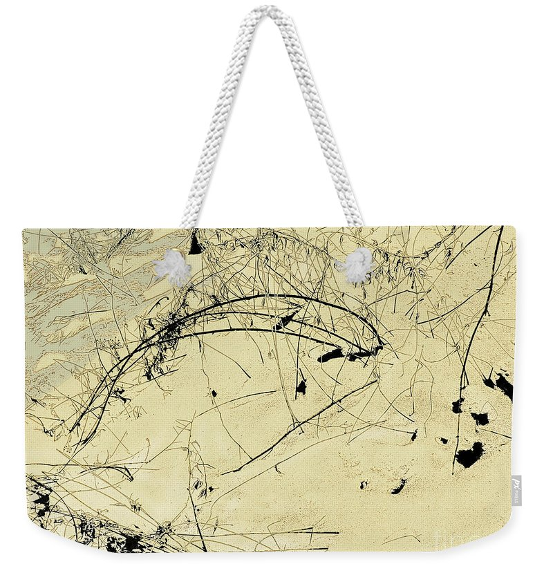 Japanese Asian Weekender Tote Bag featuring the photograph Winter Ink by CR Leyland