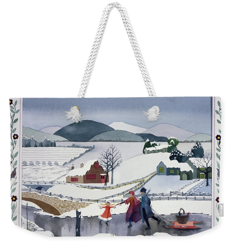 Julia Rowntree Weekender Tote Bag featuring the photograph Winter by Julia Rowntree