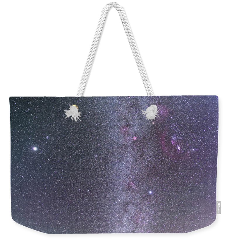 Alan Dyer Weekender Tote Bag featuring the photograph Winter Milky Way From New Mexico by Alan Dyer - Vwpics