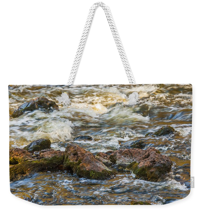 Rapids Weekender Tote Bag featuring the photograph Winter Rapids by Carolyn Marshall