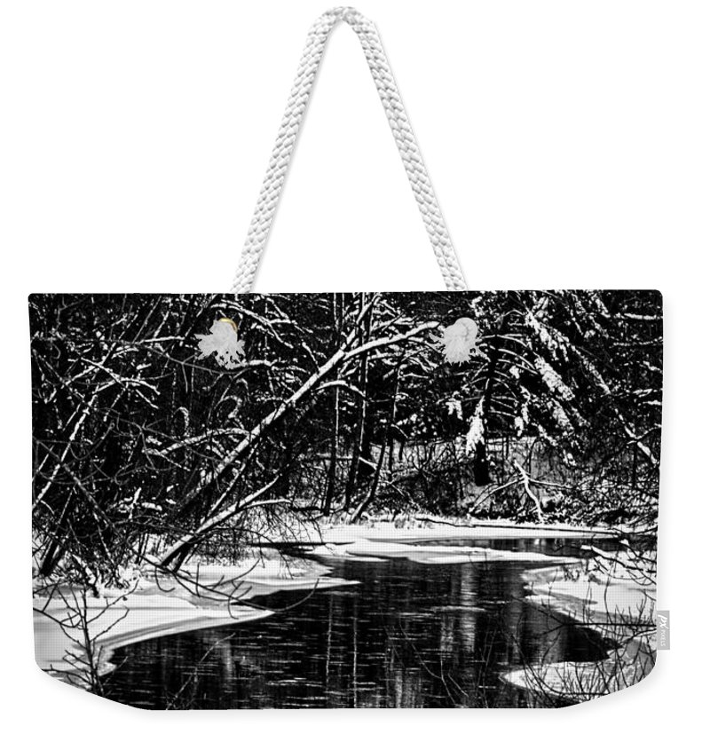 Winter Setting Weekender Tote Bag featuring the photograph Winter Solitude by Thomas Young