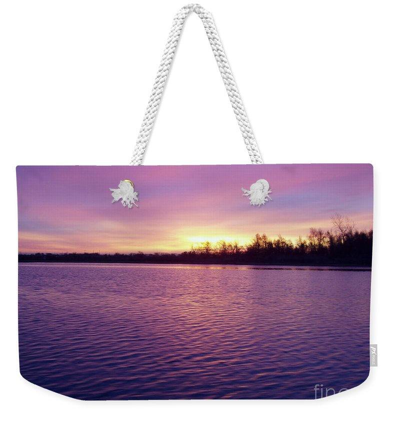 Winter Sunrise Weekender Tote Bag featuring the photograph Winter Sunrise by John Telfer