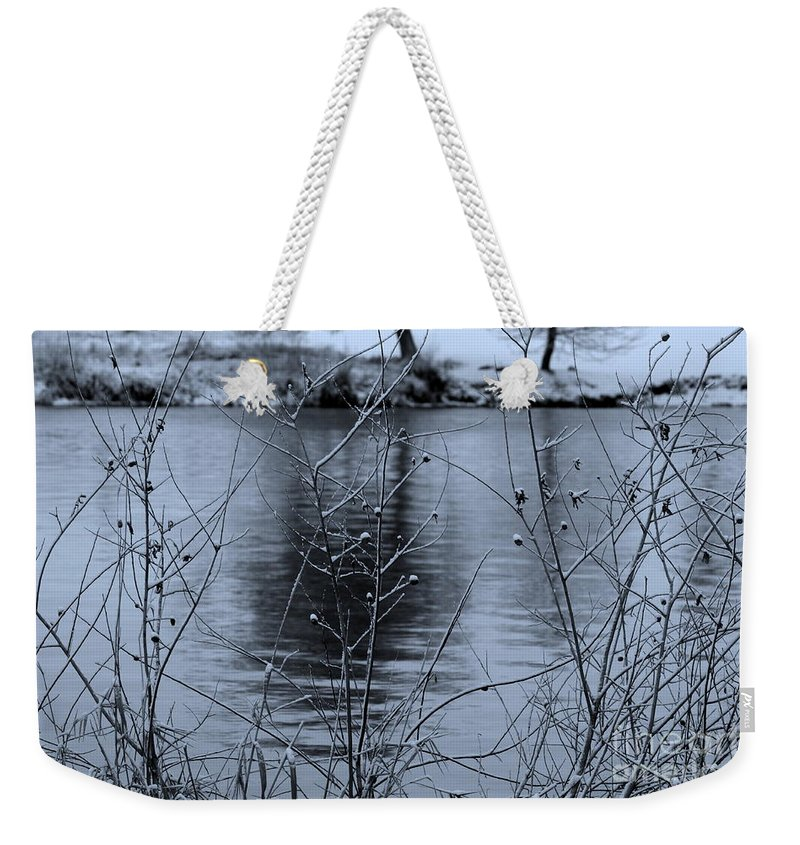 Winter Weekender Tote Bag featuring the photograph Winter Touch by Carol Groenen