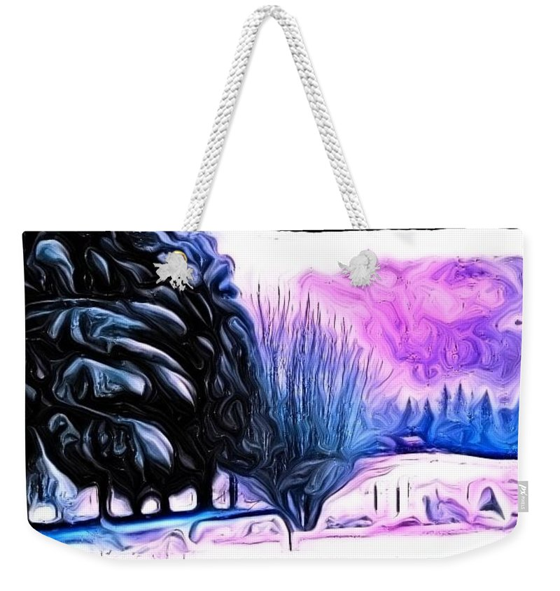 Winter Weekender Tote Bag featuring the photograph Winter Whimsey by Kathy Sampson