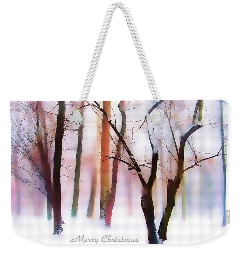 Christmas Card Weekender Tote Bag featuring the photograph Winter Wonderland by Jessica Jenney