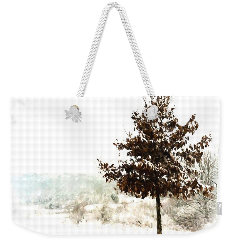 Snow Weekender Tote Bag featuring the photograph Winter Wonderland by Kerri Farley