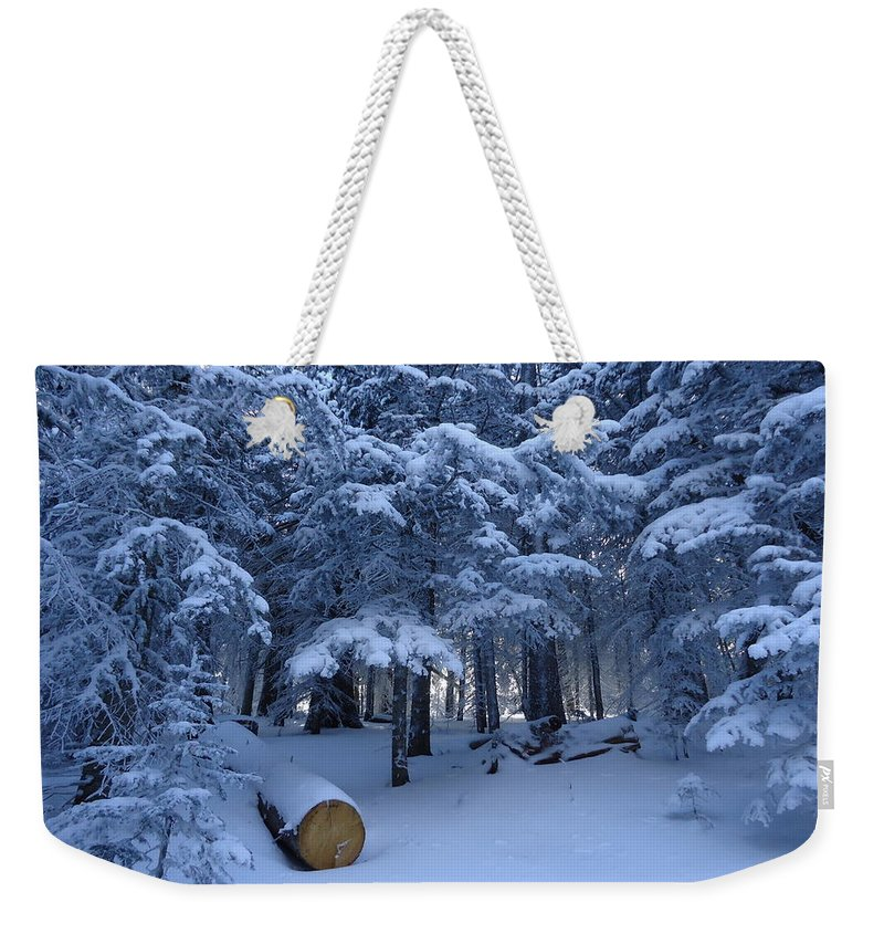 Snow Weekender Tote Bag featuring the photograph Winter Wonderland by Lois  Rivera