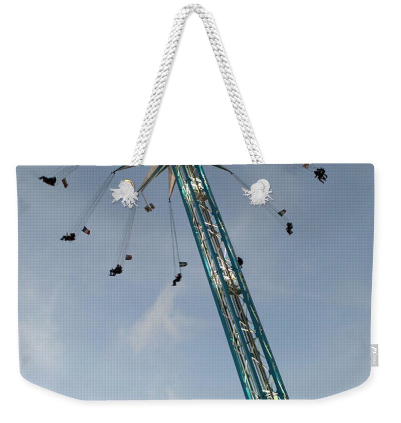 Winter Wonderland Weekender Tote Bag featuring the photograph Winter Wonderland Star Flyer by Chris Day