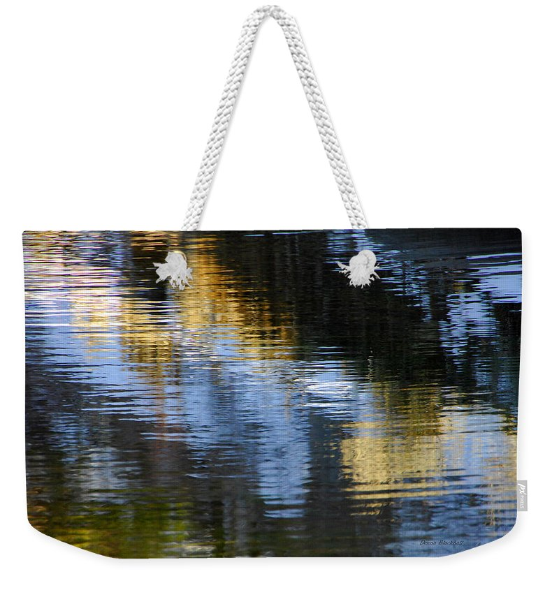 Water Weekender Tote Bag featuring the photograph Winters Color by Donna Blackhall