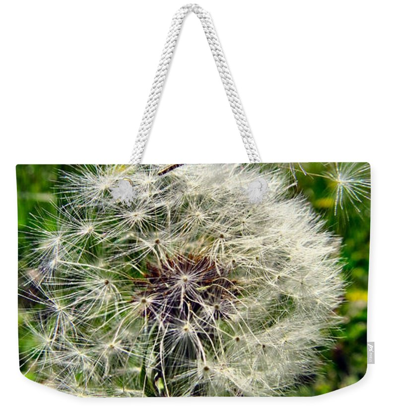 Dandelion Weekender Tote Bag featuring the photograph Wish I May by Art Dingo