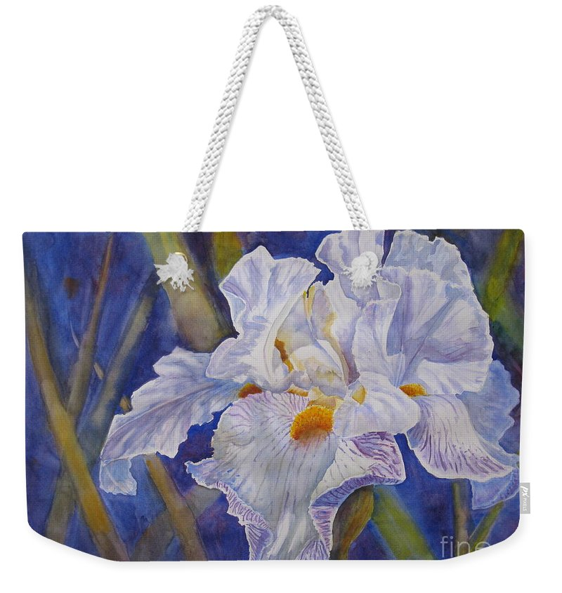 Light Weekender Tote Bag featuring the painting Wispy by Mohamed Hirji