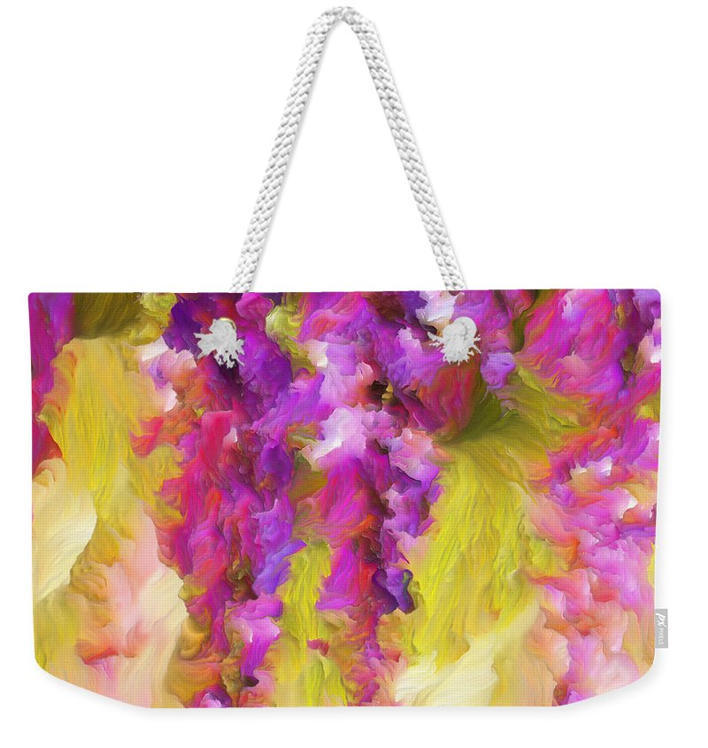 Abstract Expressionism Weekender Tote Bag featuring the painting Wisteria Dreams by Georgiana Romanovna