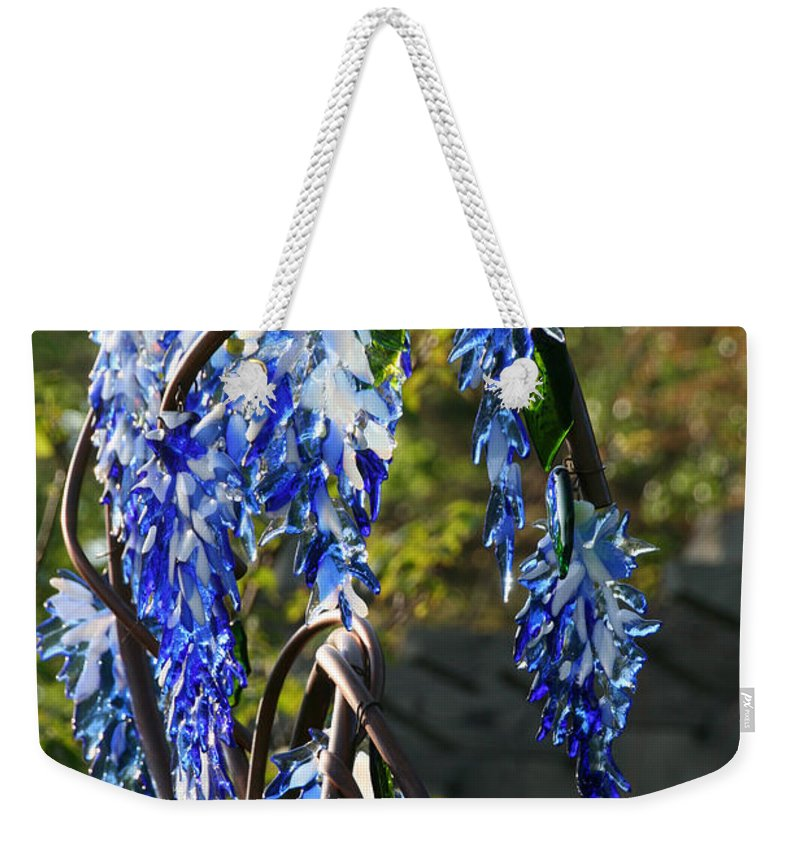Glass Weekender Tote Bag featuring the photograph Wisteria Sculpture by Susan Herber