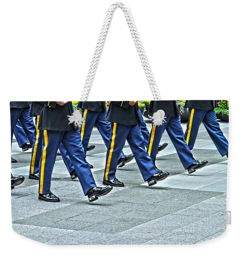 Honor Guard Weekender Tote Bag featuring the photograph With Honor by Karol Livote